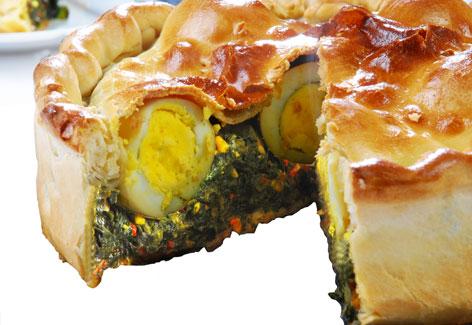 tarta de calabaza y espinaca