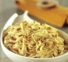Espaguettis con salsa nogada