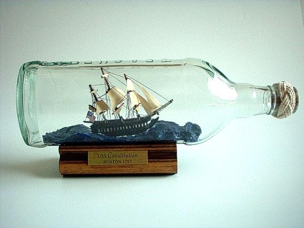 barco en botella
