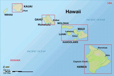 mapa hawaii