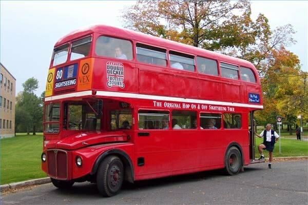 El autobús de dos pisos en Londres