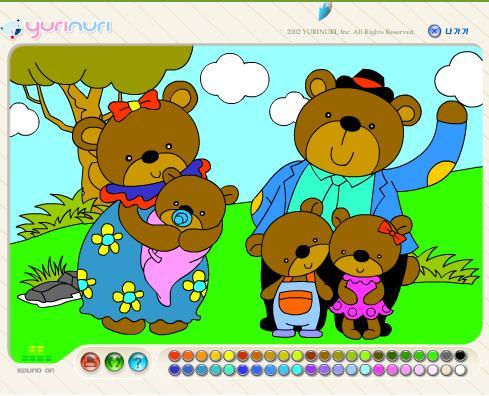 familia de osos para colorear