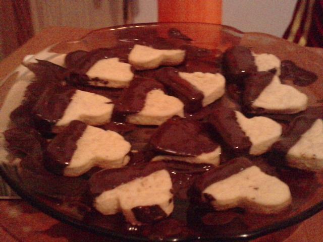 Galletas Corazones de Chocolate
