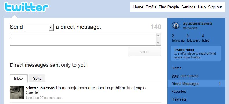 Cómo enviar un mensaje directo en Twitter