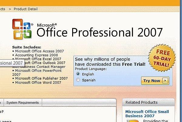 Cómo probar Microsoft Office 2007 de forma gratuita durante 60 días