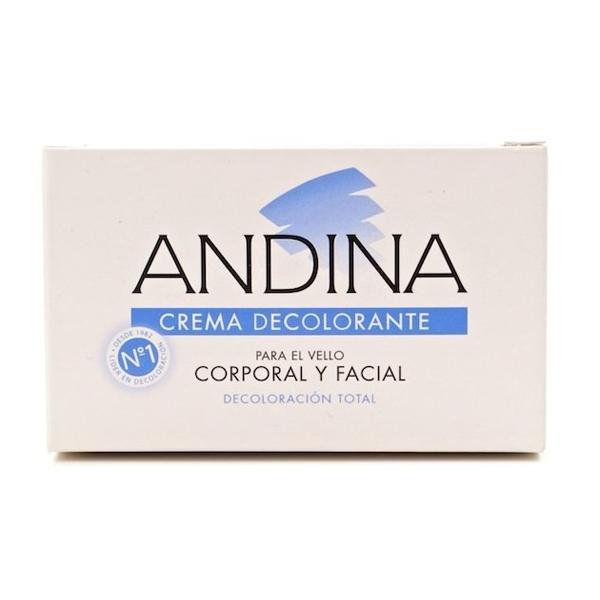 crema decolorante corporal y facial ANDINA