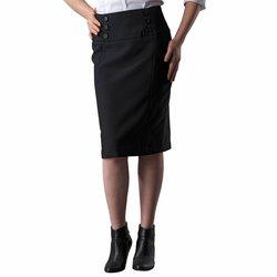 Falda en tallas grandes corte tubo color negro de LaRedoute.com