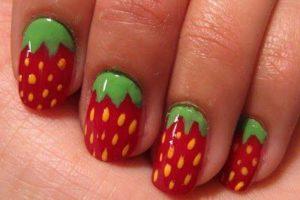 uñas de fresa