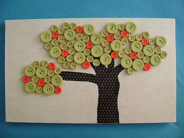 Rbol de botones iorigen - Como hacer cuadros con botones ...