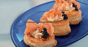 Relleno de queso y salmón para aperitivos en la thermomix 4