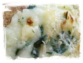Patatas asadas con espinacas bac n y bechamel iorigen - Bechamel con nata para cocinar ...