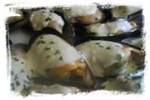 Mejillones en salsa roquefort (entrante navidad) 2
