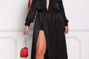 vestido de noche talla grande