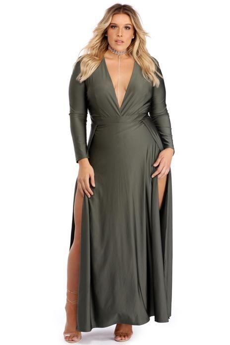 Vestidos de noche para mujeres de talla plus 1