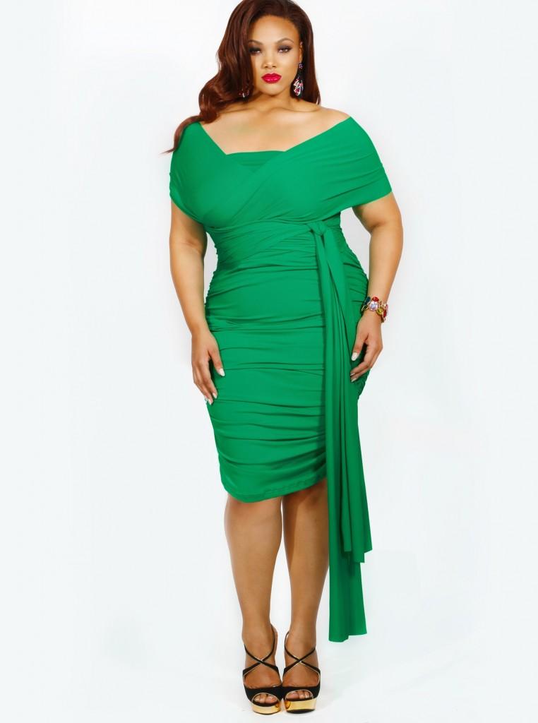 Vestidos de talla grande: ¿Qué opinas del verde? 1