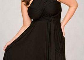Vestidos para fiestas en talla grande, elegancia en el negro 22