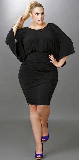 Vestido fiesta negro xl