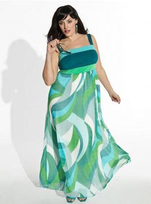 Vestidos para mujeres de talla grande a la moda