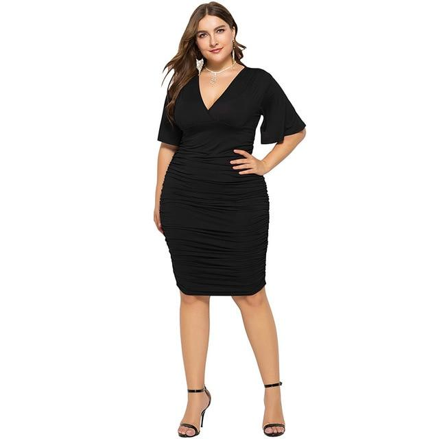 BOBOKATEER sexy robe femme bodycon dress plus size summer dress women party dresses black casual clothes