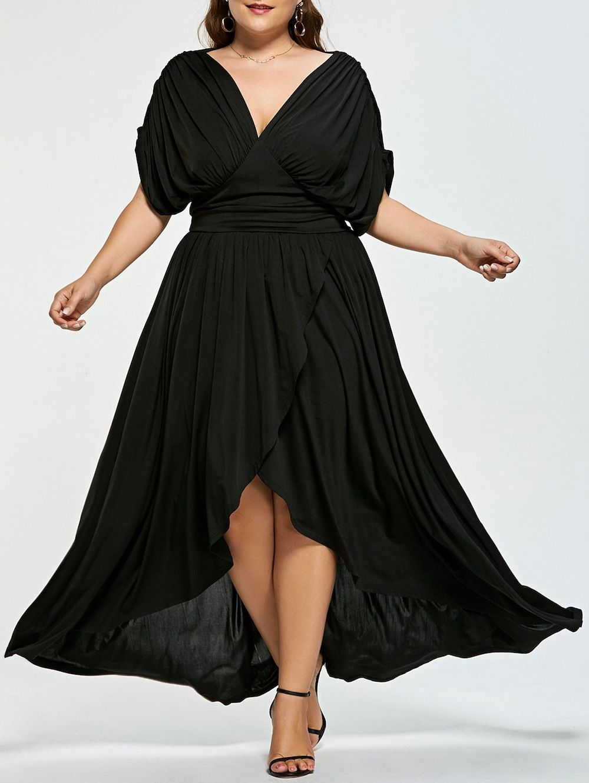 vestido negro de ceremonia negro