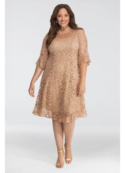 Sofia Sequin Lace Plus Size Dress