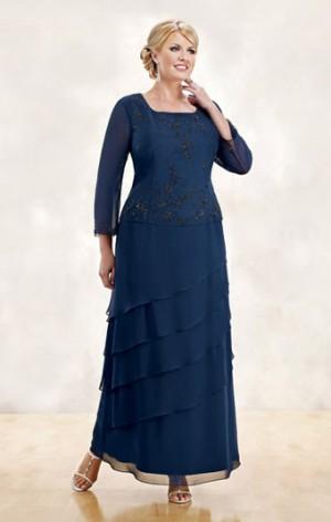 Modelos de vestidos para mujeres de talla grande 1