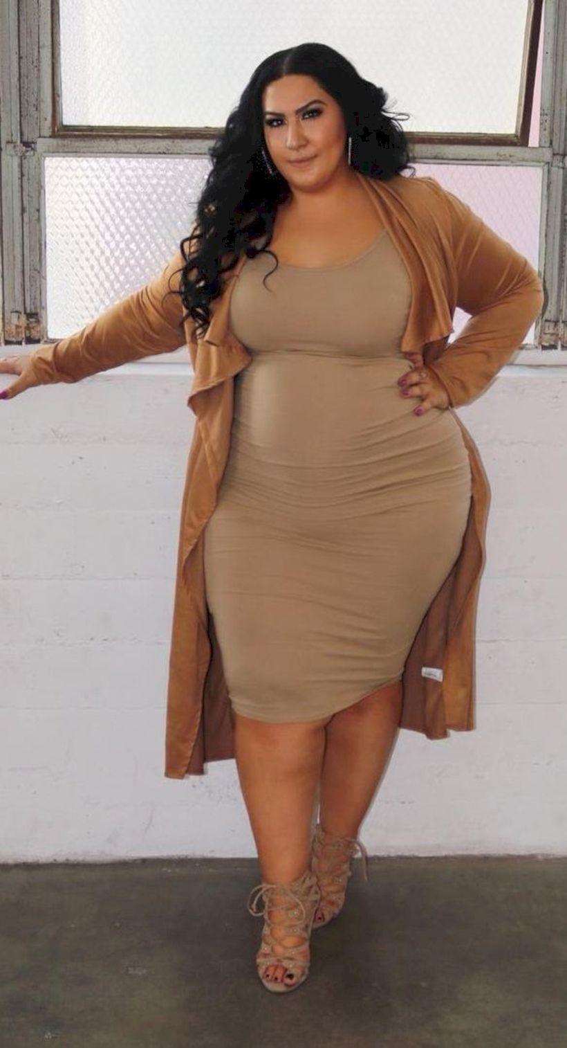 vestido marron caderas anchas