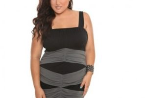 Vestidos para fiestas en talla grande, elegancia en el negro 9