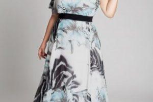 Vestido con diseño en tallas grandes 12