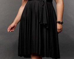 Vestidos para fiestas en talla grande, elegancia en el negro