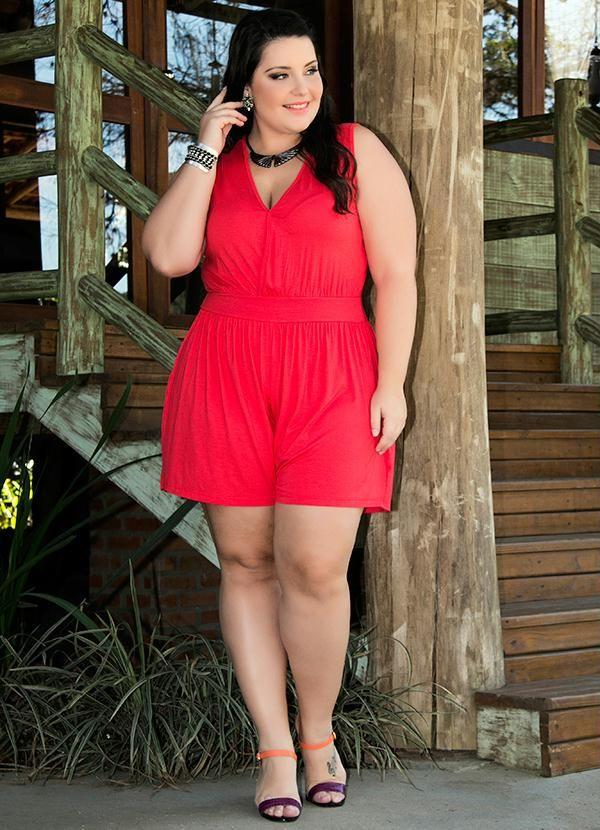 vestido casual rojo