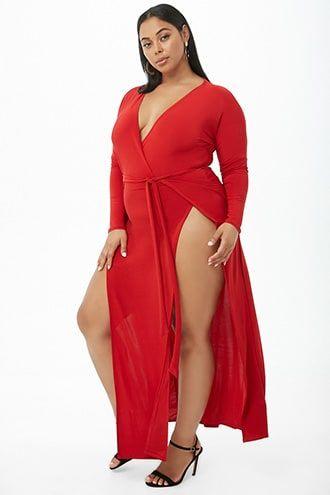 vestido sexy rojo talla grande