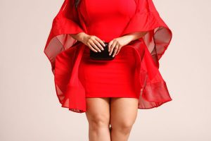 Vestido llamativo rojo invitada boda