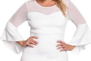 mini vestidos de fiesta blancos atractivos