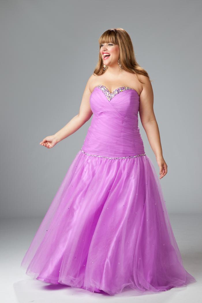 Vestido de corte de princesa para tallas grandes