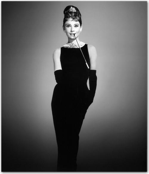 """Little Black Dress de Audrey Hepburn en la película """"Desayuno con diamantes"""", diseñado por Givenchy."""