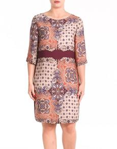 vestido estampado talla grande