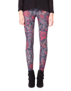 Leggins Stradivarius floreados