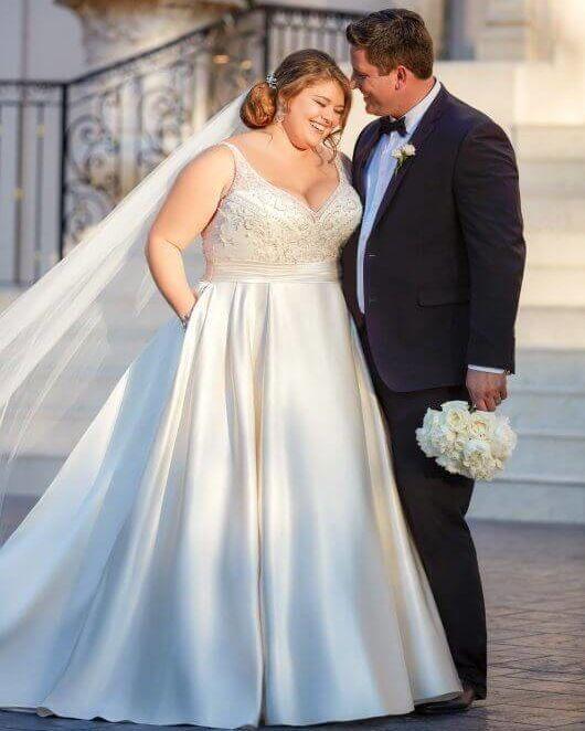 Talla plus vestido de novia
