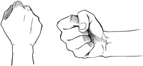 como dibujar puño