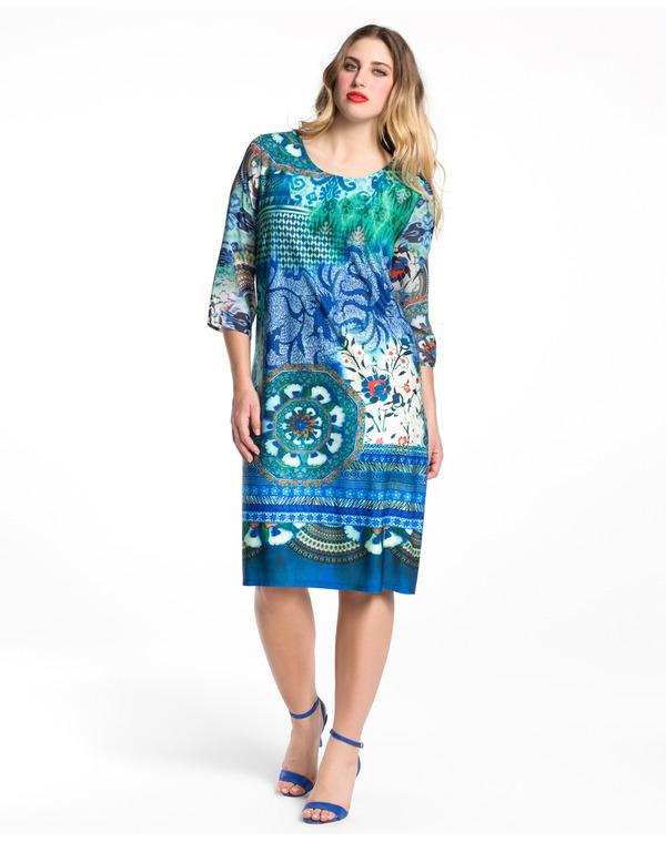 Vestidos azules talla grande