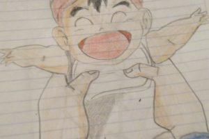 Dibujar a krillin de niño 1