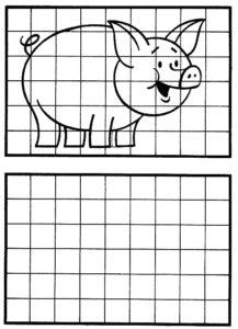 dibujo en cuadrícula