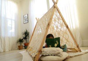 acampar en casa