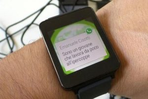 WhatsApp y Android Wear
