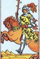 Caballo de bastos de tarot Rider-Waite