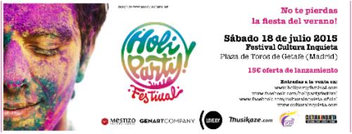 La Holi Partyteñirá de color una de las jornadas del Festival Cultura Inquieta 2015 1
