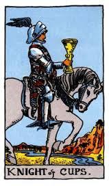 Caballo copas del tarot Rider-Waite