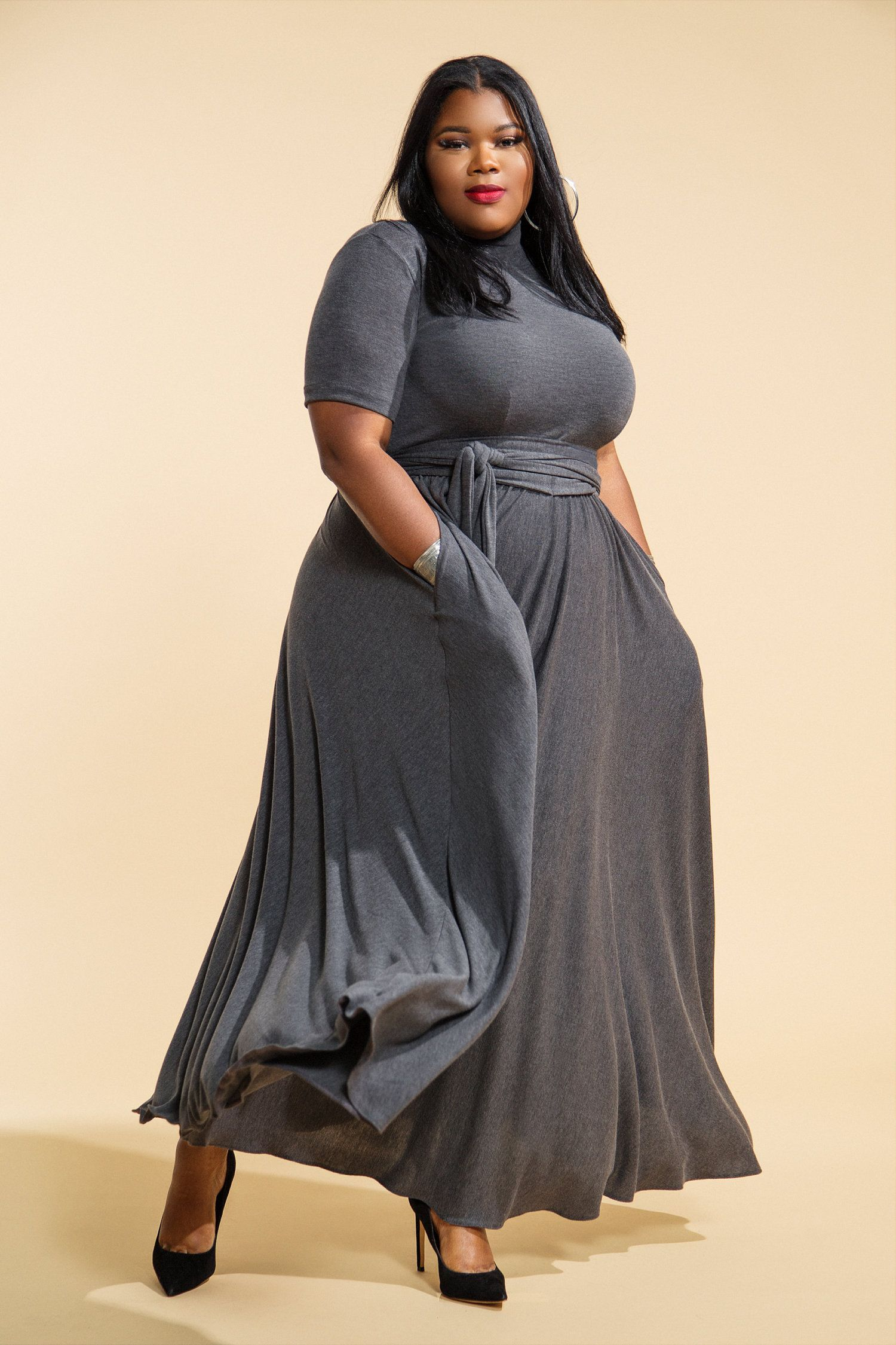 vestido largo talla plus