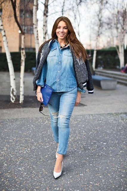65e04579a3 ▷ Blusas jeans para tallas grandes ⋆ iOrigen